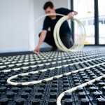 Laying Underfloor heating pipe